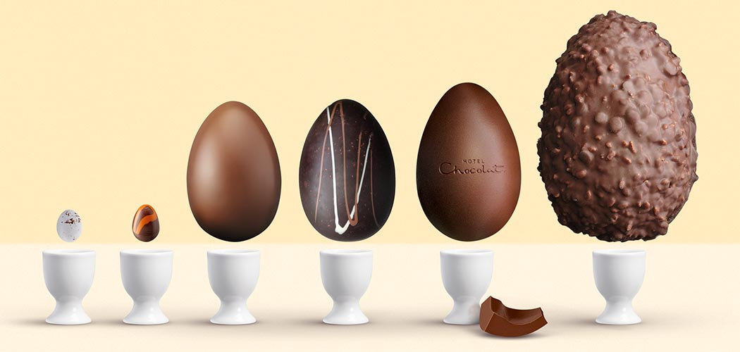 PECKING ORDER. SIZING UP HOW EASTER EGGS ARE MADE.