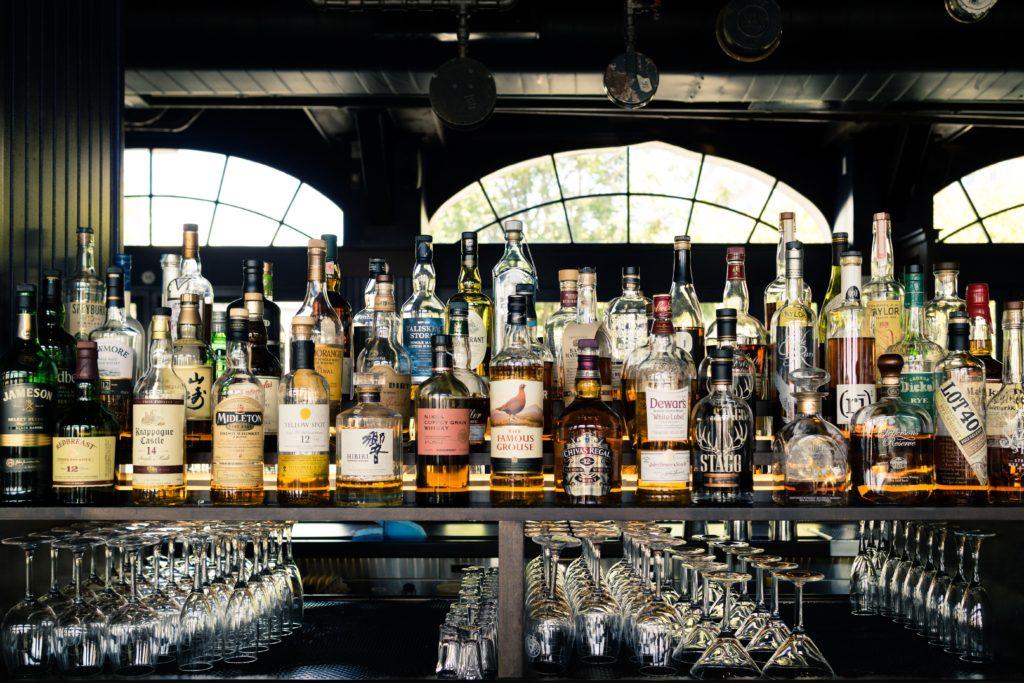 shelf of spirit alcohol