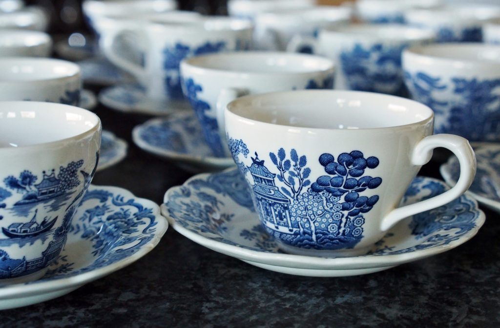 blue and white china anniversary present