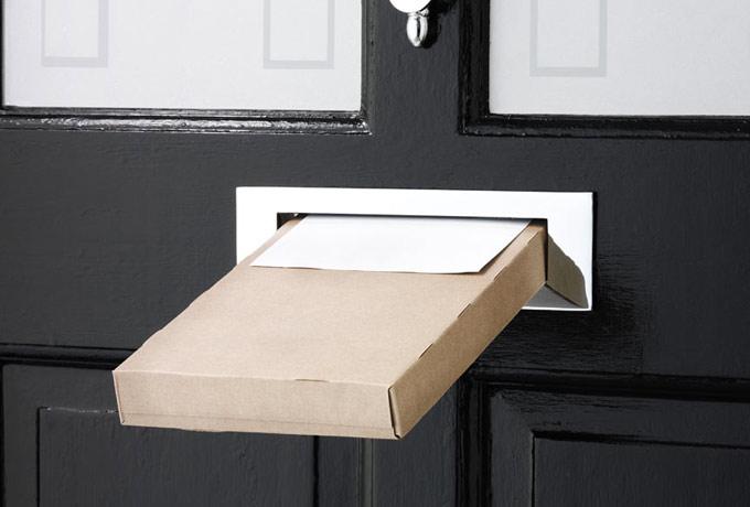 chocolate delivery box through front door