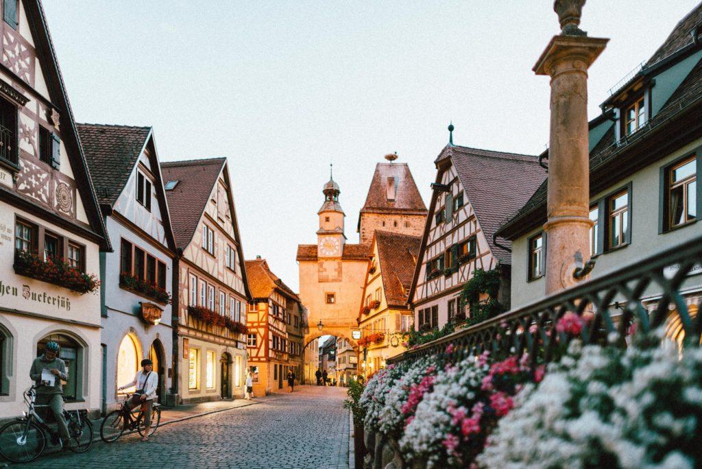European town street