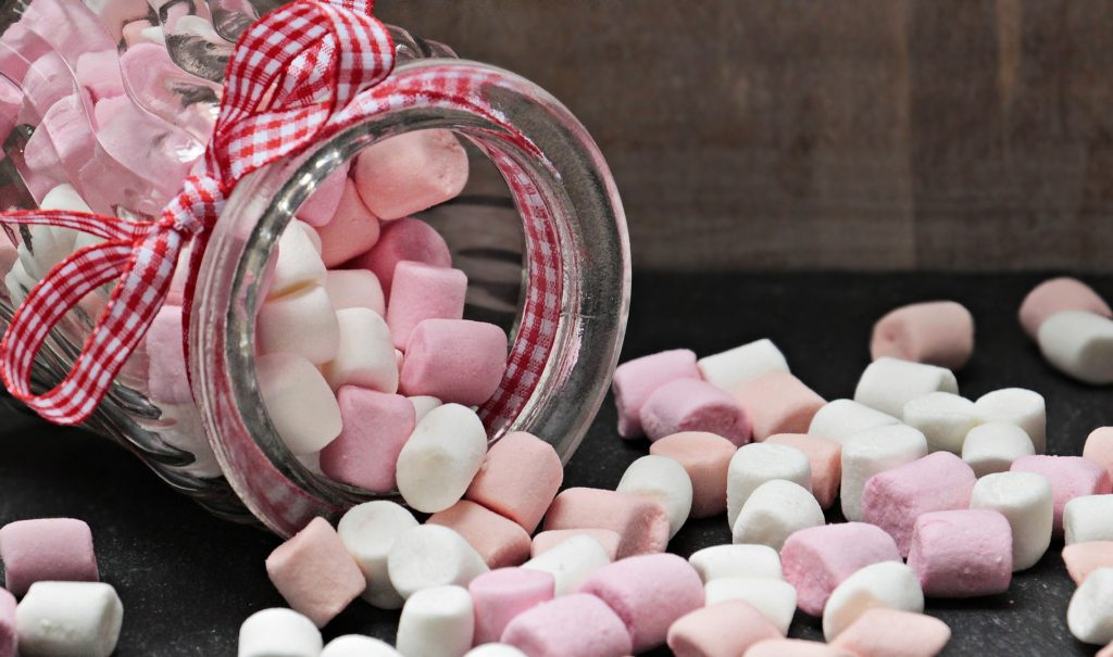 marshmallows in a jar
