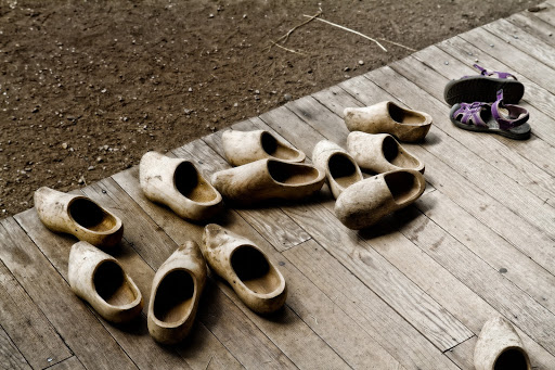 wooden clogs
