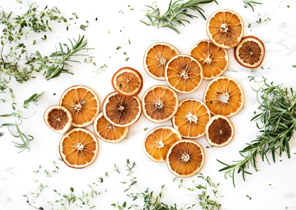 A selection of spiced dried orange slices