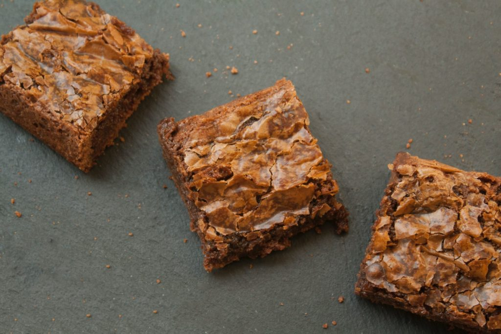 Brownie squares from above