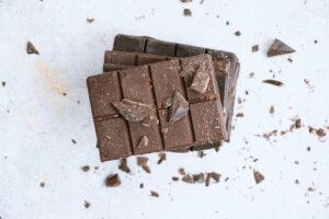 dark and milk chocolate block