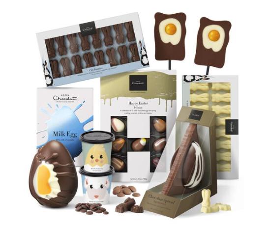 Hotel chocolat's chocolate egg selection