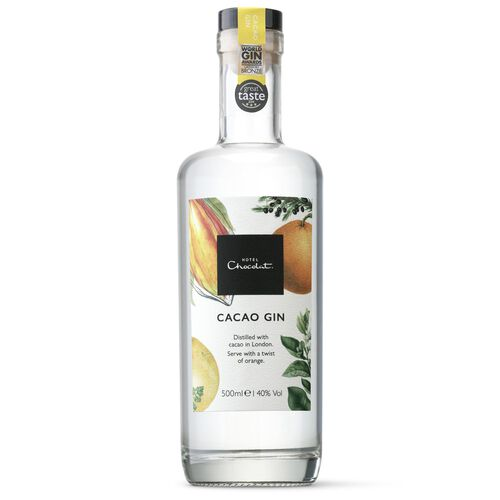 Hotel Chocolat London Dry Gin with cacao shells