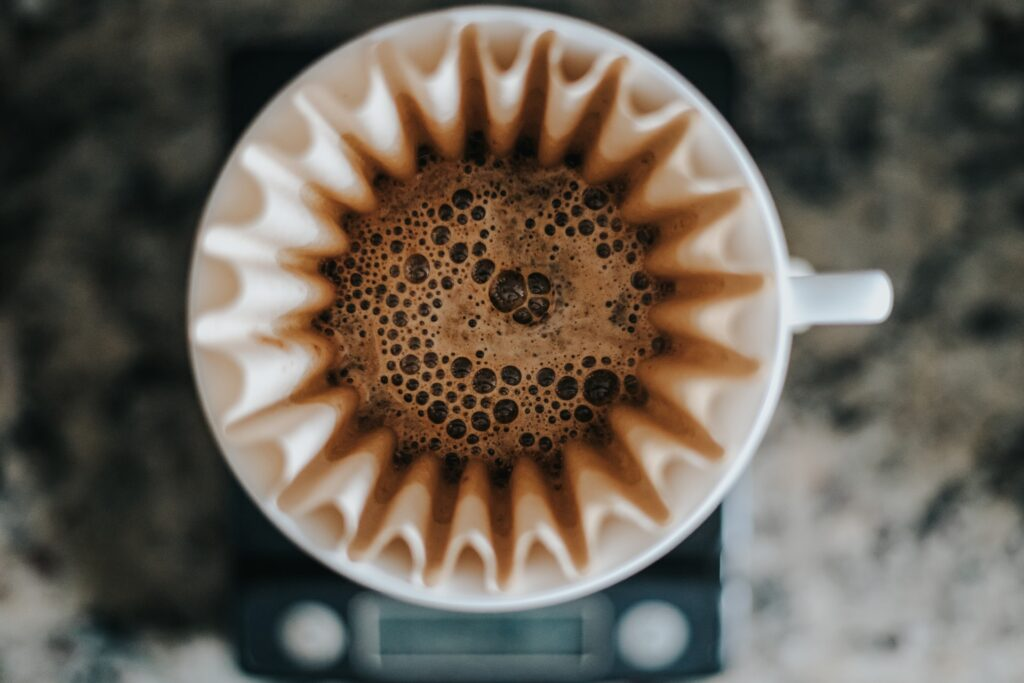 filter coffee machine seen from above