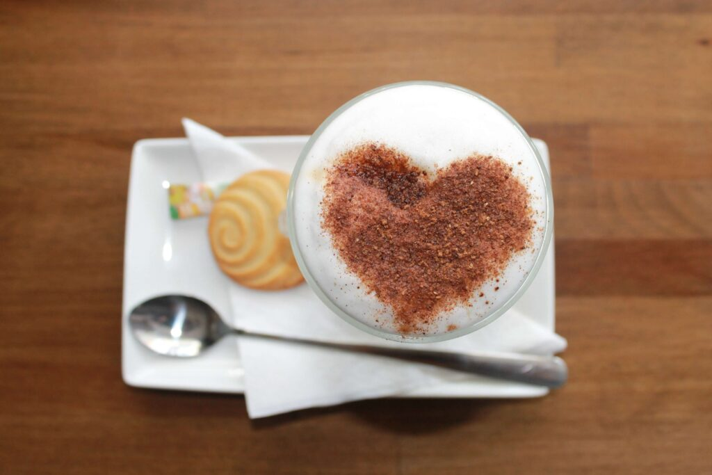 Capuccino with frothy steamed milk