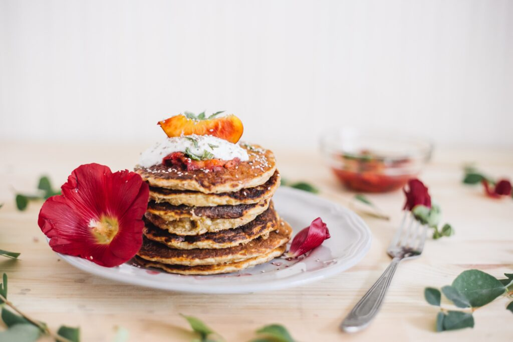 Chocolate breakfast pancakes