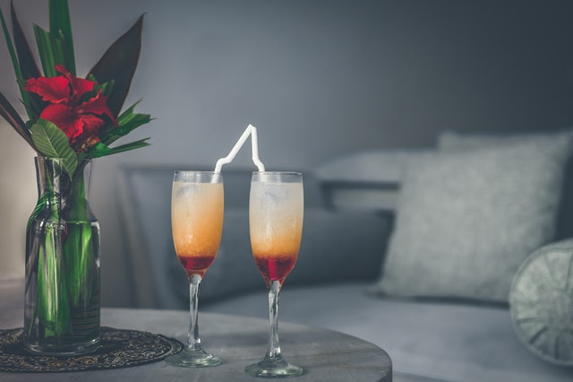Colourful cocktails at home